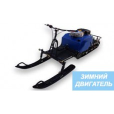 Мотобуксировщик с лыжным модулем 15 л.с, ЛИДЕР-2-3Т-15АП ЗИМНИЙ ДВИГАТЕЛЬ (модуль в комплекте)
